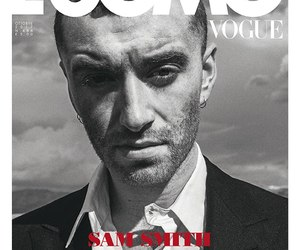 l'uomo vogue, sam smith, and by cole sprouse image