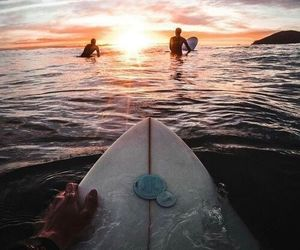 surfing, surf, and ocean image