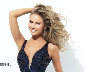 sherri hill 50749, beads short dress, and homecoming dress taffeta image