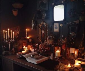 candles, witch, and wicca image