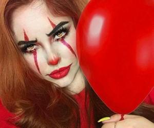 Halloween, makeup, and it image