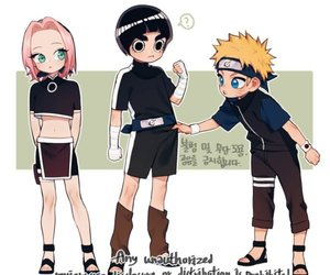 lee, li, and naruto image