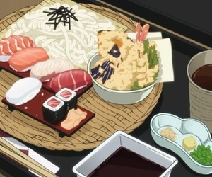 anime food, anime, and food image