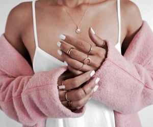 fashion, white, and nails image