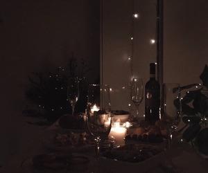 dinner, wine, and dark image