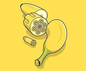 banana, bananas, and bullet image