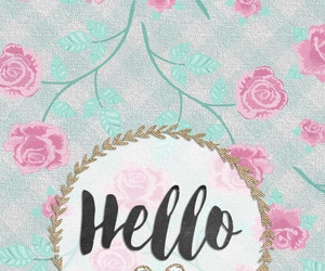 background, floral, and flores image
