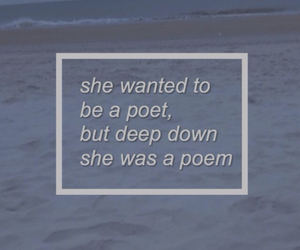 ocean, poems, and text image