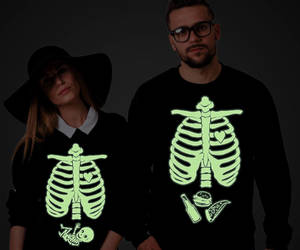 etsy, glow in the dark, and baby skeleton image