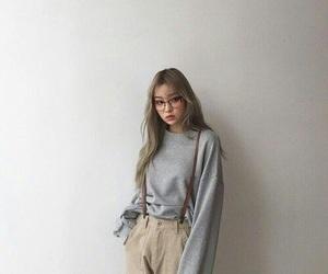 girl, ulzzang, and style image