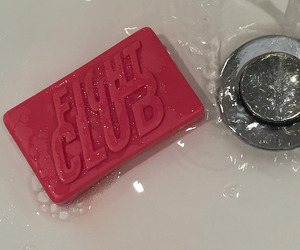 fight club, red, and soap image