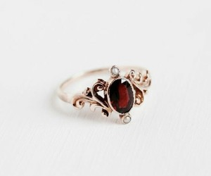ring, gold, and red image