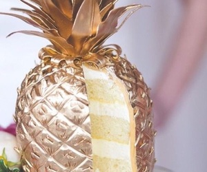 cake, pineapple, and food image