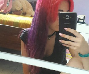 hair, pink, and haair image
