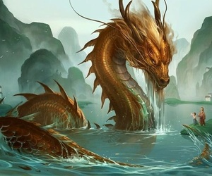 art, beautiful, and water image