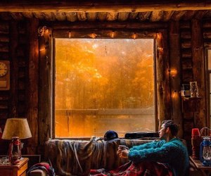 autumn, bed, and cloudy image