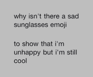 emoji, cool, and sad image