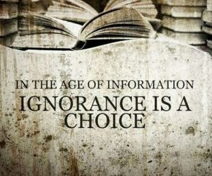 ignorance, quotes, and choice image