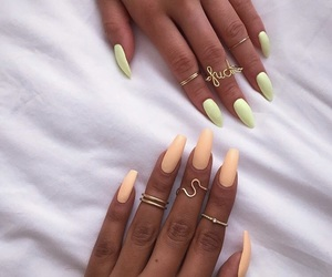 nails, orange, and style image