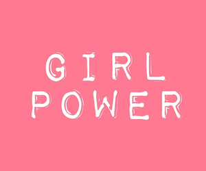 girl, pink, and girl power image