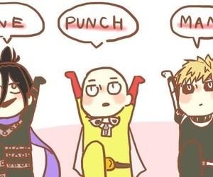 one punch man, sonic, and saitama image