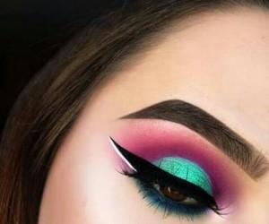 makeup, tumblr, and eye image