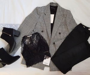 blazer, blogger, and boots image