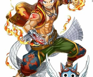 happy, fairy tail, and fire image