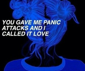 love, quotes, and blue image