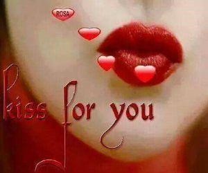 kiss, love, and lips image