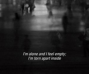 alone, sad, and empty image