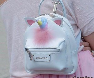 unicorn, pink, and bag image