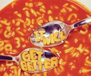 food, letters, and soup image