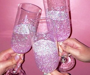 bright, glitter, and pink image