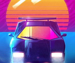 80's, car, and color image
