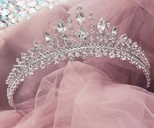 pink, crown, and princess image