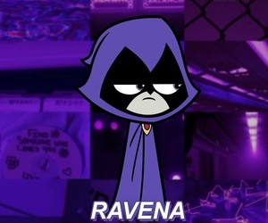 DC, purple, and teen titans image