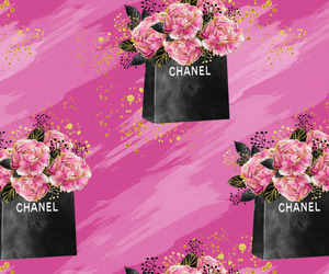 background, black, and chanel image