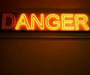 danger, neon, and aesthetic image