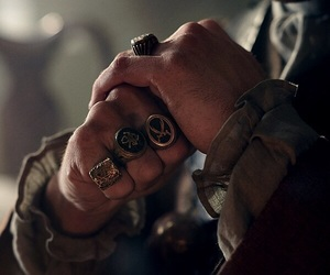 hands, rings, and black sails image