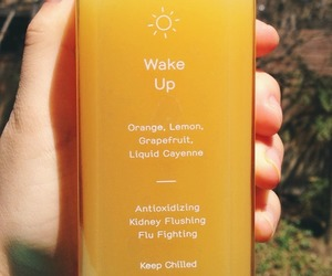 drink, yellow, and orange image