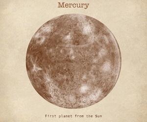 mercury, planet, and art image