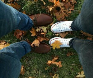 autumn, leaves, and boyfriend image