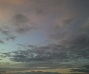 blue, lilac, and clouds image