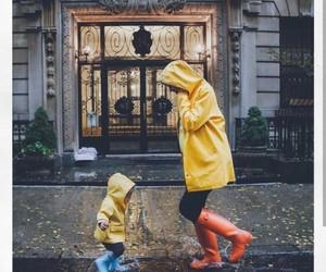 rain, baby, and kids image