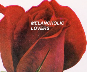 flower, melancholic, and red image