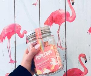 flamingo, glitter, and tumblr image