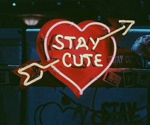 neon, cute, and red image