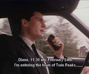 Twin Peaks and agent cooper image