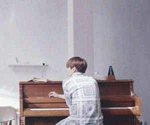 bts, suga, and piano image